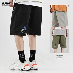 BJHG 夏季薄款<span class=H>短裤</span>男国潮牌日系街头INS流行19SS滑板休闲五分中裤