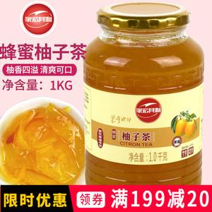 蜂蜜<span class=H>柚子茶</span>1000g韩国风味蜜炼水果茶果汁1kg果酱冲<span class=H>饮品</span>即冲即饮