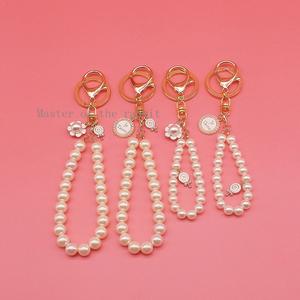 钥匙扣款仿珍珠手链永生花包包挂饰车挂diy饰品配件串珠材料手工