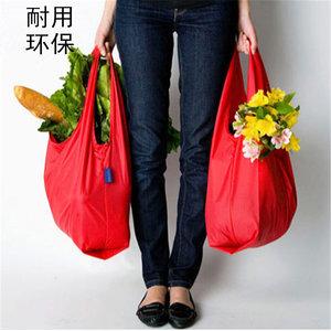 可折叠背心环保<span class=H>购物袋</span>布兜取代塑料袋杂物收纳袋手提袋单肩尼龙布