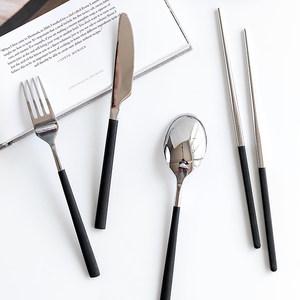 肆月 故梦 糖果色手柄304不锈钢牛排<span class=H>刀叉</span>汤勺筷子 家用西餐餐具