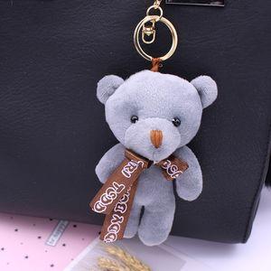 小熊包包挂件创意可爱卡通公仔<span class=H>钥匙扣</span>女士汽车钥匙链韩国毛绒挂饰