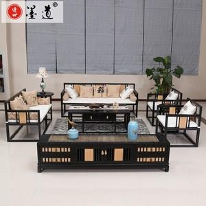 新中式<span class=H>沙发</span>禅意民宿茶楼样板房定制实木简约现代中式<span class=H>沙发</span>家具组合