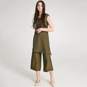 9魅HH0T0009拼接无袖假两件连体长裤专柜折扣<span class=H>女装</span>2019夏