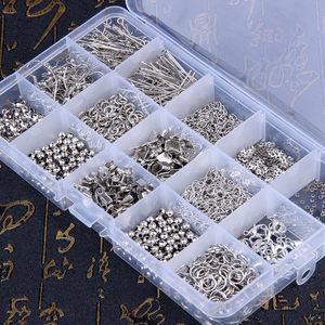 制作耳饰品的手工材料包项链金属<span class=H>珠子</span>耳环配饰配件diy串珠手链条