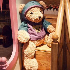 可爱泰迪熊公仔卫衣暴力熊毛绒玩具布娃娃儿童抱枕<span class=H>抱抱熊</span>生日礼物