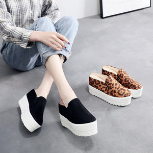 2019春夏新款时尚外穿包头<span class=H>半拖鞋</span>女厚底松糕百搭防滑一脚蹬懒人鞋