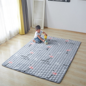可水洗法兰绒<span class=H>床垫</span><span class=H>床褥</span>子榻榻米保护垫1.5m1.8床2米薄款珊瑚绒垫被