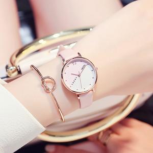 珂紫KEZZI 正品牌韩国版潮流行复古气质优雅花纹圆盘陶瓷女手腕表