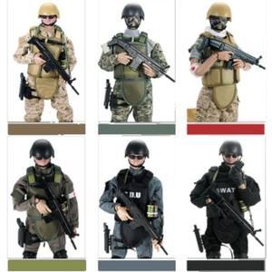 兵人模型<span class=H>玩具</span>反恐队海豹突击队警察特种部队军人玩偶套装男孩