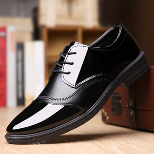 新款春夏季透气商务正装休闲男<span class=H>皮鞋</span>防滑男士<span class=H>皮鞋</span>亮面系带男鞋子