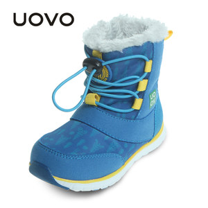 UOVO童鞋2018新款冬季宝宝雪地棉靴中<span class=H>小童</span>儿童靴子加绒<span class=H>男</span>童<span class=H>短靴</span>潮