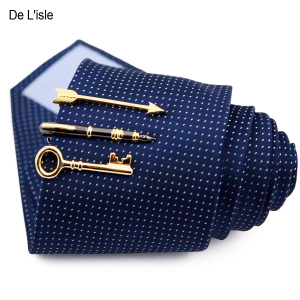 De Lisle 男士个性特色时尚简约商务正装<span class=H>领带夹</span>子别针 韩版礼盒装