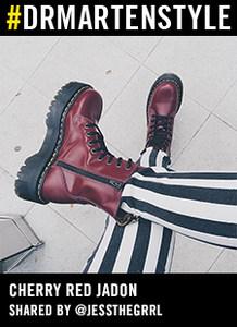 专柜正品dr.martens<span class=H>马丁靴</span> 经典JADON 8孔光皮厚底15265001CPU