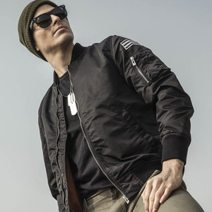 AK<span class=H>男装</span>  新款男士复古MA-1尼龙棒球服休闲飞行员夹克修身潮外套