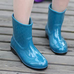 韩版简约<span class=H>雨鞋</span>女纯色<span class=H>雨鞋</span>中短筒<span class=H>雨靴</span>女防滑水鞋大码防水<span class=H>女鞋</span>胶<span class=H>鞋子</span>