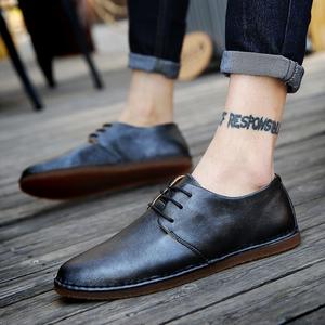 夏季<span class=H>男鞋</span>子英伦软底男士休闲社会鞋潮流百搭豆豆皮鞋韩版商务潮鞋