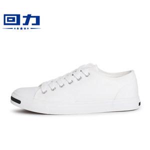回力春季情侣开口笑帆<span class=H>布鞋</span>女鞋白色<span class=H>低帮</span>小白鞋子<span class=H>系带</span>板鞋休闲<span class=H>布鞋</span>