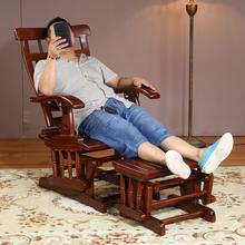 摇摇椅tg闲椅躺椅成md椅阳台午睡椅老的摇摆椅香樟木