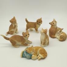 仿真(小)tg家居装饰品tz意礼物可爱礼品树脂动物猫咪工艺品摆设