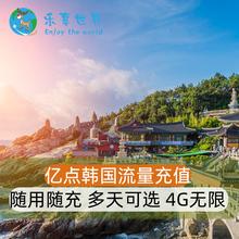 亿点 韩国电话卡流量tg7值 1-tz用随充 4G无限流量