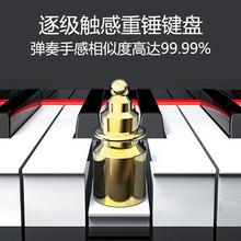 特伦斯th8键重锤数is成的初学者电钢幼师电子钢琴学生自学