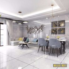 瓷砖 th体大理石8ab800地板砖灰色简约客厅防滑耐磨地砖背景墙