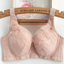 包邮薄款有钢th文胸收副乳ab聚拢防下垂大码显(小)女士性感内衣
