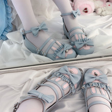【现货th月满大的【ab】低跟 原创Lolita女鞋甜系lo鞋兔兔
