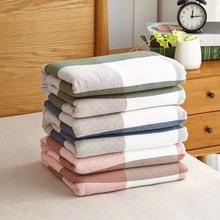 佰乐毛th被纯棉毯纱bi空调毯全棉单双的午睡毯宝宝沙发被床单