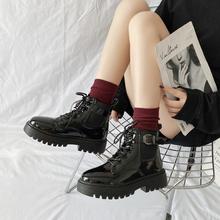 202th新式春夏秋bi风网红瘦瘦马丁靴女薄式百搭ins潮鞋短靴子