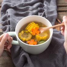 大号日th泡面碗带盖bi宿舍学生陶瓷碗饭碗微波炉家用方便面碗