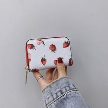 女生短th(小)钱包卡位bi体2020新式潮女士可爱印花时尚卡包百搭