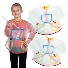 儿童美术绘画围裙反穿衣透
