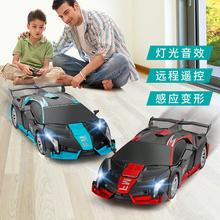 手势感应变形遥控车金刚赛车机器的th13充电(小)bi童玩具汽车
