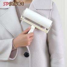 滚筒可th式粘尘纸滚bi毛除毛器清洁衣物衣服黏粘毛刷