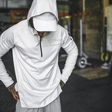 春季速th连帽健身服bl跑步运动长袖卫衣肌肉兄弟训练上衣外套
