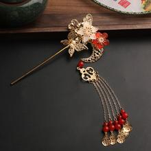 古风汉th步摇配饰仙bl流苏发簪 超仙中国风饰品头钗簪子