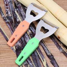 甘蔗刀th萝刀去眼器ca用菠萝刮皮削皮刀水果去皮机甘蔗削皮器