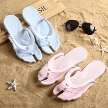 折叠便th酒店居家无co防滑拖鞋情侣旅游休闲户外沙滩的字拖鞋