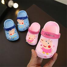 女童宝宝宝th2洞洞鞋防da岁5婴儿软底沙滩鞋男童(小)童凉拖鞋夏季