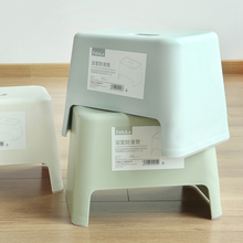 日本简th塑料(小)凳子da凳餐凳坐凳换鞋凳浴室防滑凳子洗手凳子