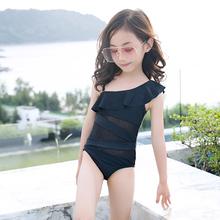 宝宝泳th女童连体裙li童游泳衣公主韩国女孩泳装女宝宝比基尼