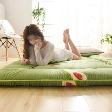日式加th打地铺神器fa榻米地垫可折叠睡垫懒的卧室床垫床褥子