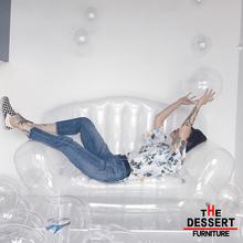 网红新th高端品质时fa充气女皇单的透明沙发柔软舒适厂家直销