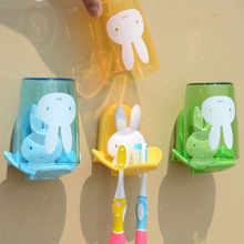 卫生间th壁挂式牙刷gr情侣壁挂洗漱口杯架套装刷牙杯子置物架