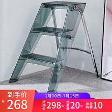 家用梯th折叠的字梯gr内登高梯移动步梯三步置物梯马凳取物梯