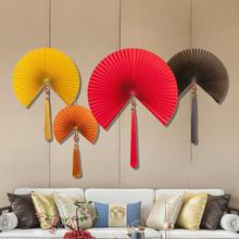 墙上装th挂件壁挂中sa客厅工艺扇古风中国风挂扇纸折扇