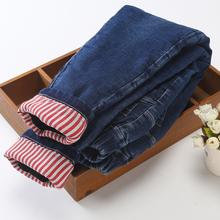 女童棉th外穿三层加sa保暖冬宝宝女裤洋气中大童修身牛仔裤