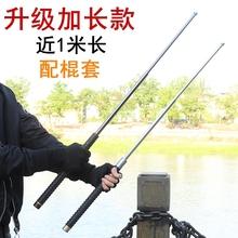 户外随身工th多功能伸缩ho战术甩棍野外防身武器便携生存装备